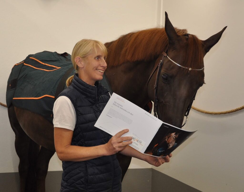 Eläinlääkäri Lotta Wallin käyttää BEMER-terapiaa hevosklinikallaan